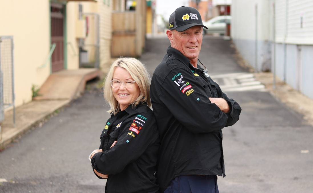 BACK: Inverell's Cate and Michael Jorgensen, after a what should have been a grueling Tour de Cure, are determined to do it all again. Photo: Jacinta Dickins